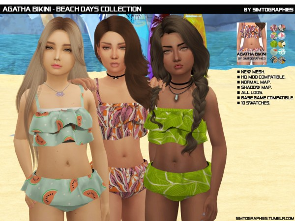 Simtographies: Jessie Swimsuit (Beach Days Collection)