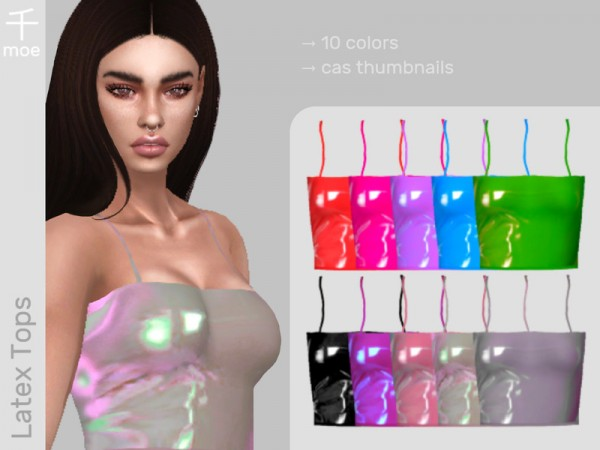 The Sims Resource: Latex Tops by Senmoe