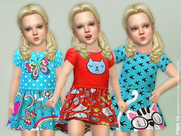 The Sims Resource: Toddler Dresses Collection P92 by lillka