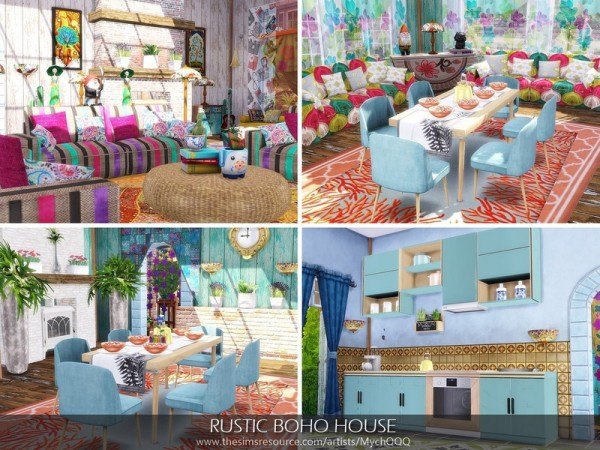 The Sims Resource: Rustic Boho House by MychQQQ