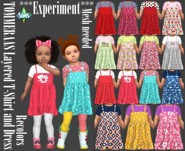 Annett`s Sims 4 Welt: Layered T Shirt and Dress Recolors