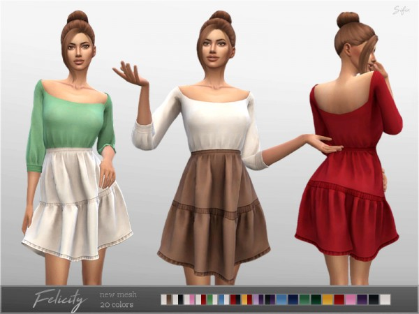 The Sims Resource: Felicity Dress by Sifix