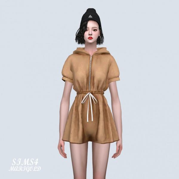 SIMS4 Marigold: Hood Jumpsuit