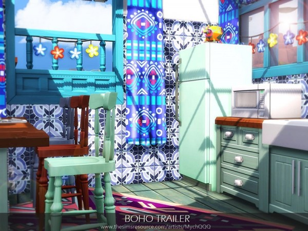 The Sims Resource: Boho Trailer by MychQQQ