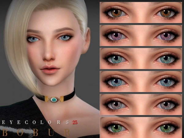 The Sims Resource: Eyecolors 25 by Bobur3