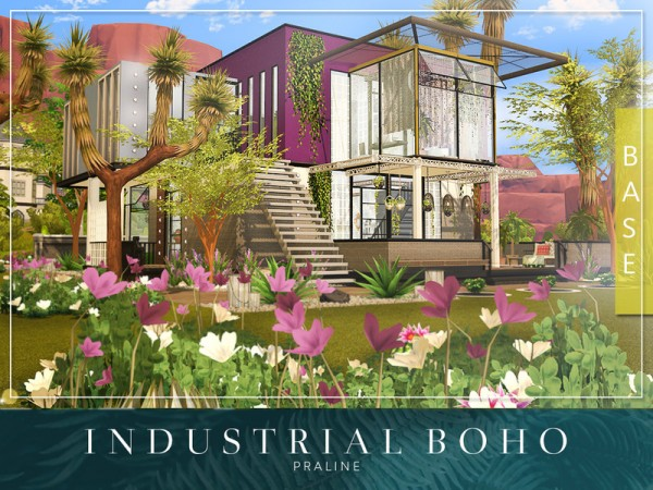 The Sims Resource: Industrial Boho house by Pralinesims