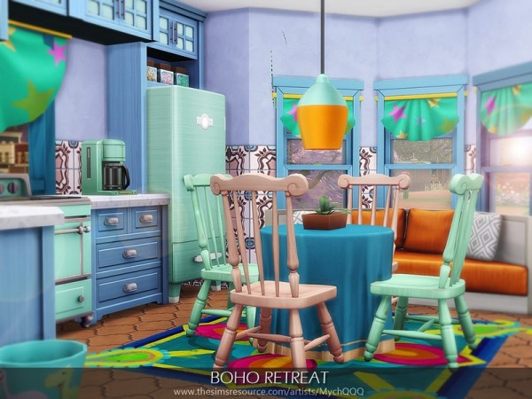The Sims Resource: Boho Retreat House by MychQQQ