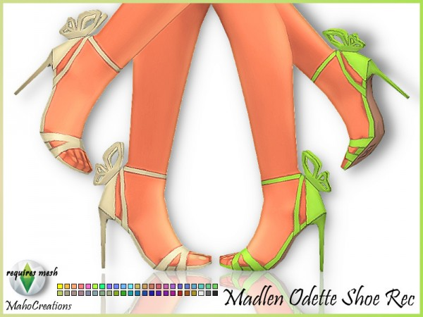 The Sims Resource: Madlen`s Odette Shoes Recolored by MahoCreations