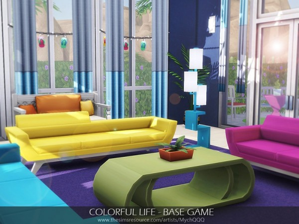 The Sims Resource: Colorful Life House by MychQQQ