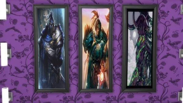 Mod The Sims: World of Warcraft Portrait Paintings by N.Blightcaller