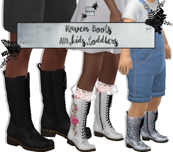 LumySims: Raven Boots for kids and toddlers