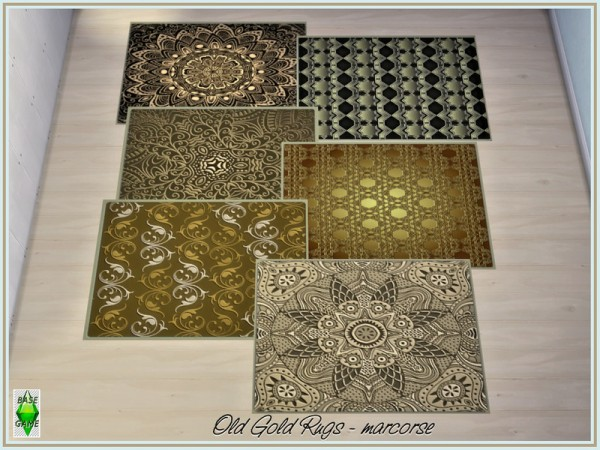 The Sims Resource: Old Gold Rugs by marcorse