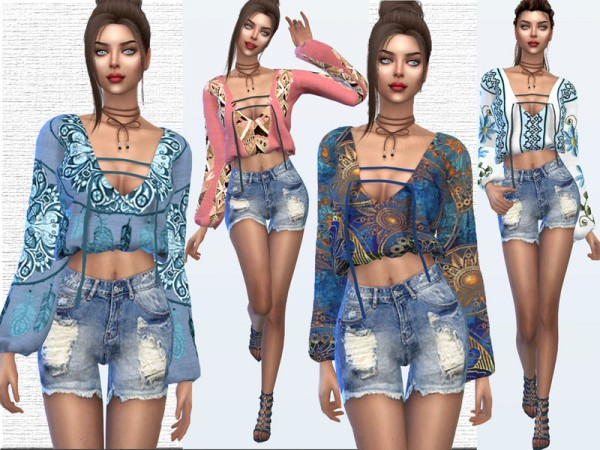 The Sims Resource: Boho Chic Blouse by Sims House