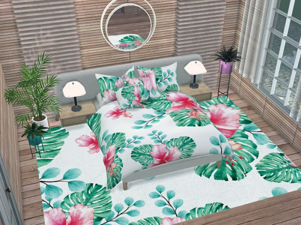The Sims Resource: Tropical Watercolor Bedroom Accessories Pt 2 by neinahpets
