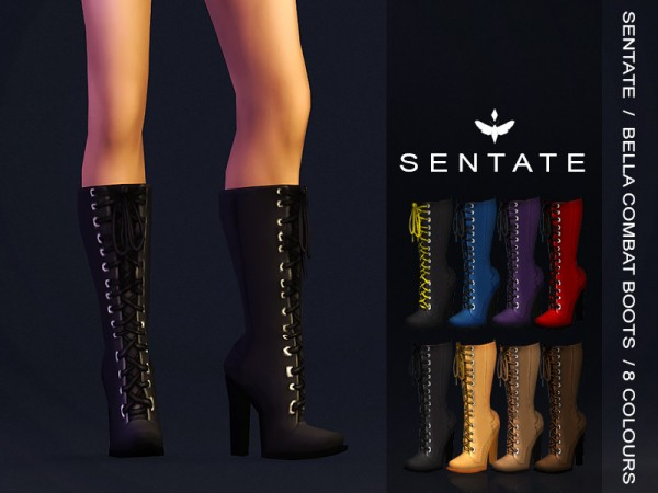 The Sims Resource: Bella Combat Boots  by Sentate