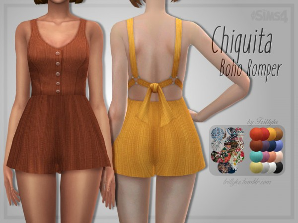 The Sims Resource: Chiquita Boho Romper by Trillyke