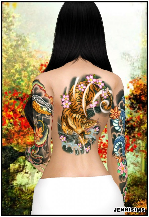 Jenni Sims: Collection Tattoos Dragon Girl