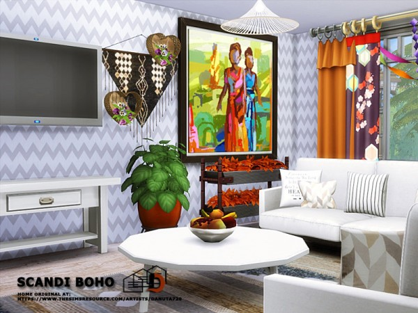 The Sims Resource: Scandi Boho House by Danuta720