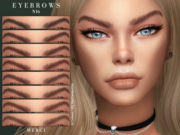 The Sims Resource: Eyebrows N16 by Merci