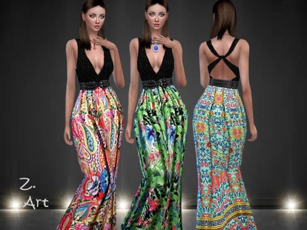 The Sims Resource: Boho Dress 07 by Zuckerschnute20