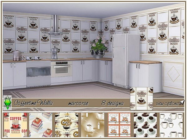 The Sims Resource: Coffeetime Walls by marcorse