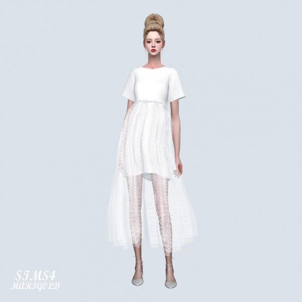 SIMS4 Marigold: Love Mesh Long Dress