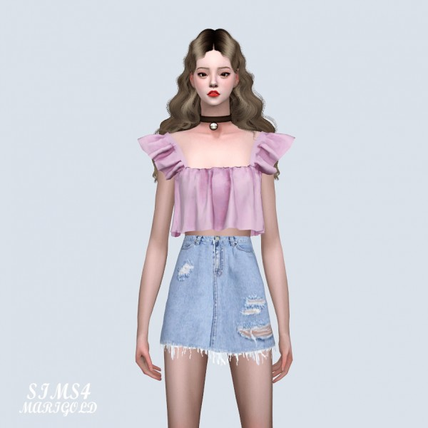 SIMS4 Marigold: Cute Tiered Crop Top