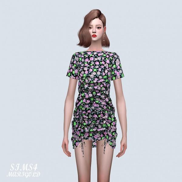 SIMS4 Marigold: 22 Shirring Mini Dress