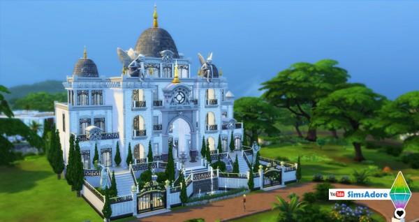 Mod The Sims: Modern Royal Mansion   with indoor pool by bradybrad7