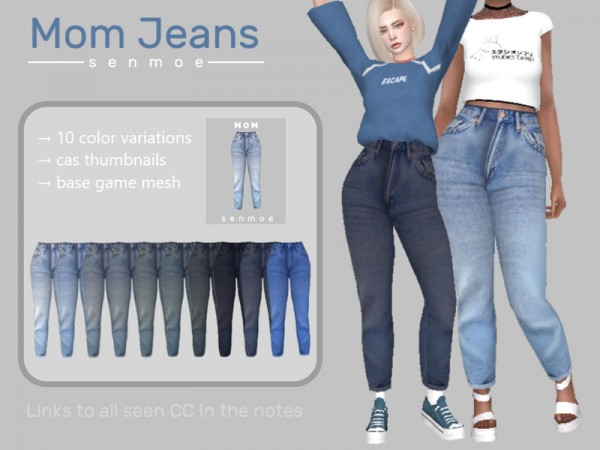 The Sims Resource: Mom Jeans by Senmoe