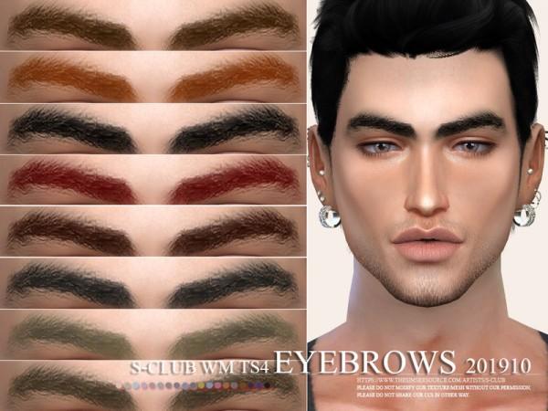 The Sims Resource: Eyebrows 201910 by S Club