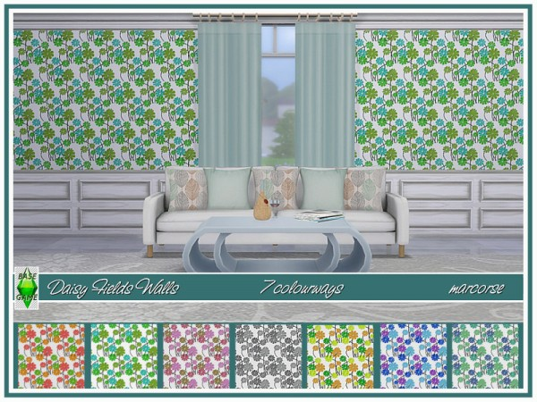 The Sims Resource: Daisy Fields Walls by marcorse