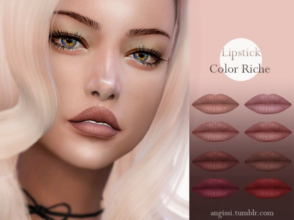 The Sims Resource: Lipstick Color Riche by ANGISSI