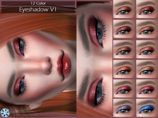 The Sims Resource: Eyeshadow V1 by Lisaminicatsims