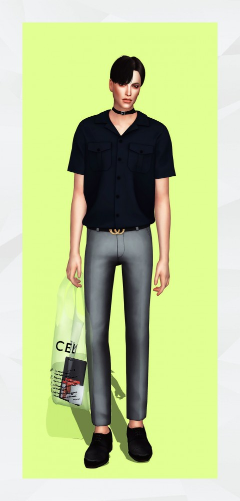 Gorilla Short Sleeve Pocket Shirt Sims 4 Downloads
