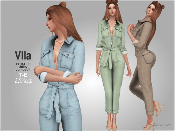 The Sims Resource: VILA   Jumpsuit by Helsoseira
