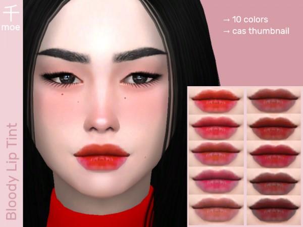 The Sims Resource: Lip Tint V2 by Senmoe