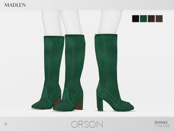 The Sims Resource: Madlen Orson Boots by MJ95