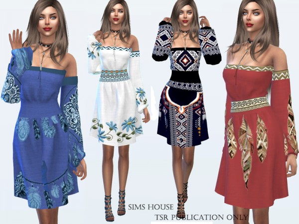 The Sims Resource: Dress Boho Chic by Sims House
