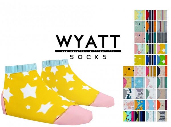 Onyx Sims: Wyatt Colorful Socks