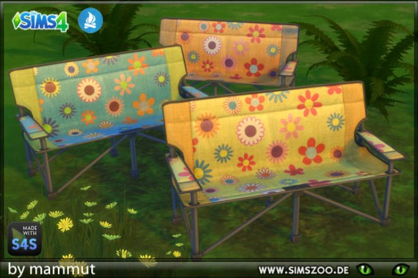 Blackys Sims 4 Zoo: Hippie Camping seater
