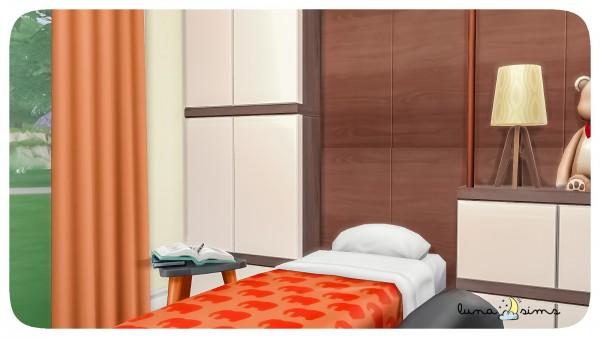 Luna Sims: Opposite twins bedroom