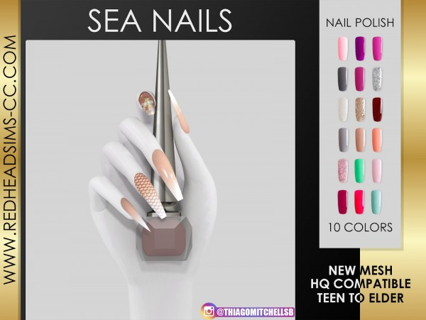 Red Head Sims: Sea Nails