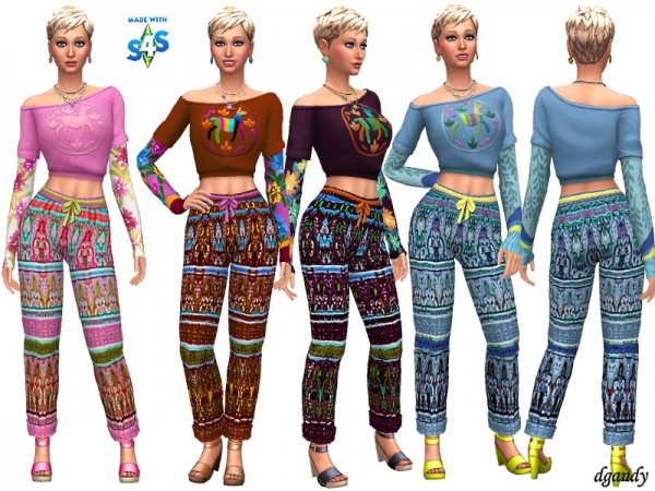 The Sims Resource: Boho Capris by dgandy