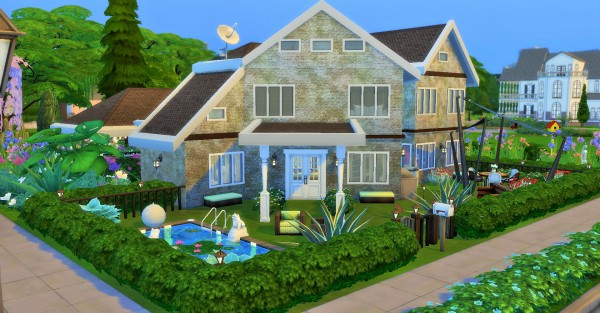 Mod The Sims: Two story House with big pond by heikeg