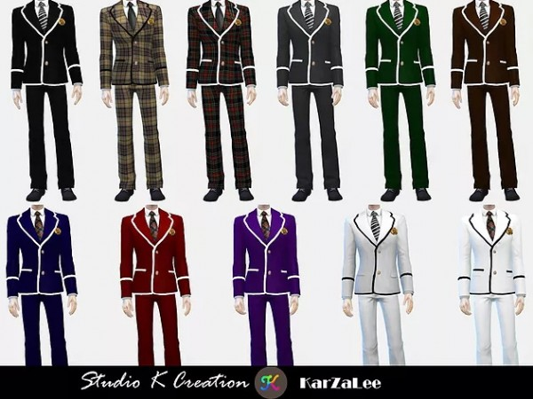Studio K Creation: Blazer Tie uniform set