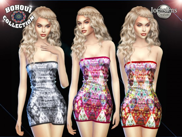 The Sims Resource: Bohoui Collection short dress 1 by jomsims