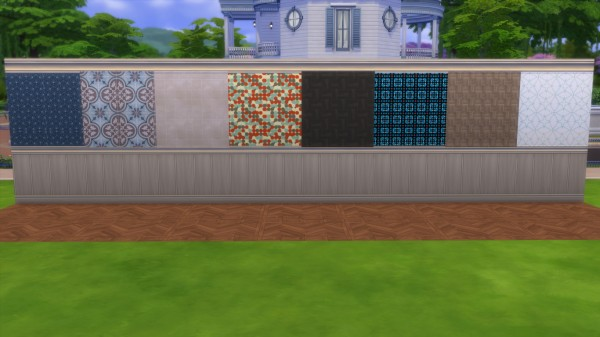 Mod The Sims: Patterns in wood   Wallpaper pack by iSandor