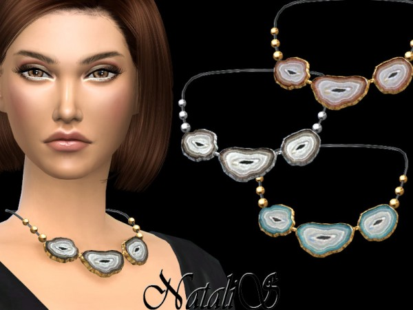 The Sims Resource: Agate slices necklace by NataliS