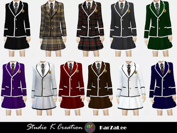 Studio K Creation: Blazer Tie uniform set for child and toddler